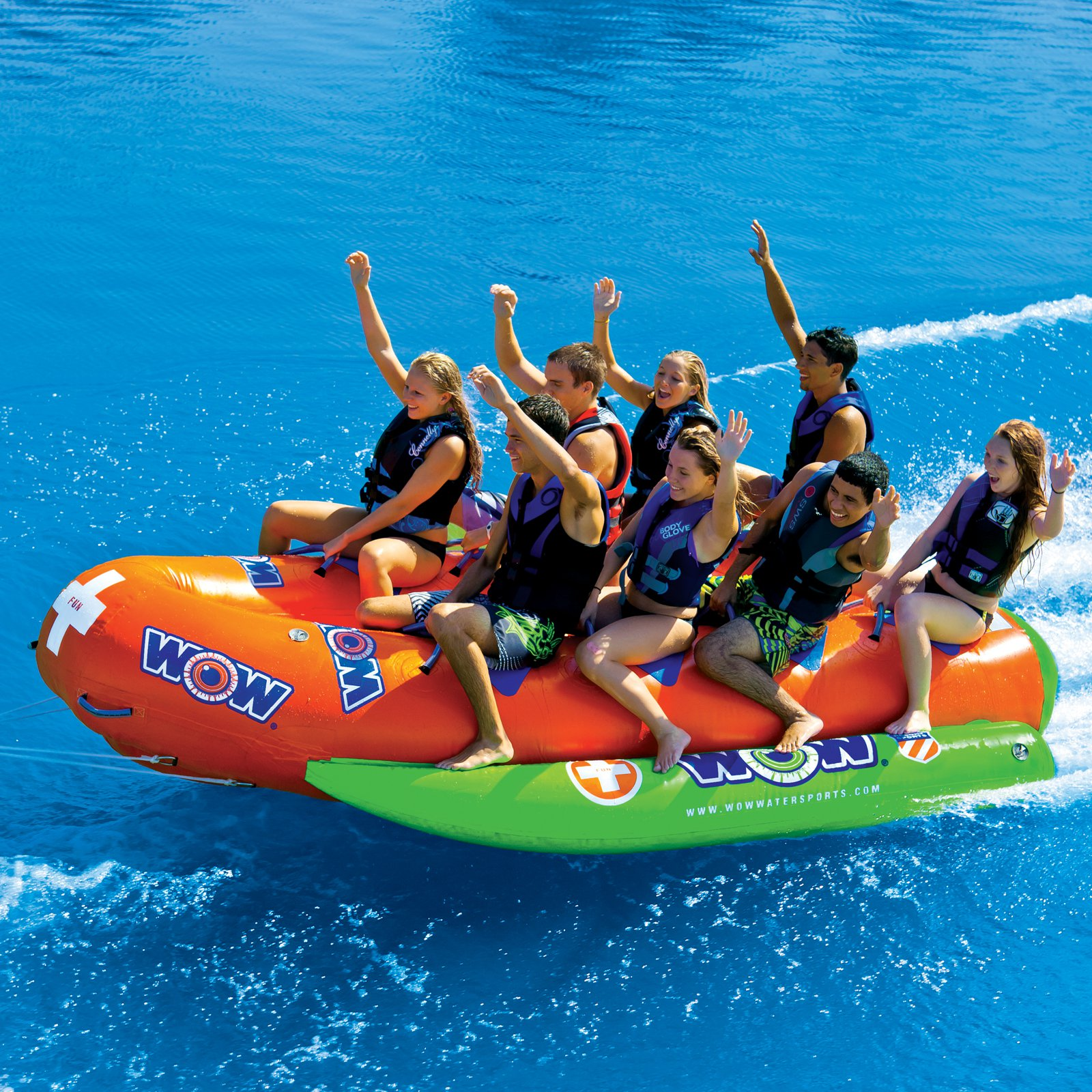8-Person Closed Bow Banana Boat by Wow Sports