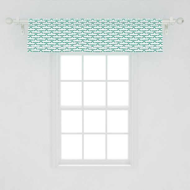 Caterpillar Window Valance Pattern Of Larva Type Bugs Repeating Spring Season Animals Wildlife Curtain Valance For Kitchen Bedroom Decor With Rod Pocket By Ambesonne Walmart Com Walmart Com