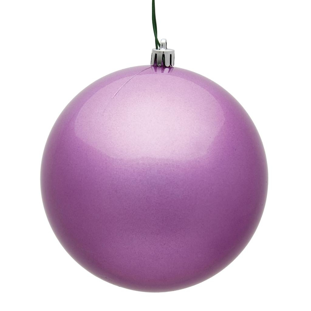 "Vickerman 483275 - 4"" Orchid Candy Ball Christmas Christmas Tree Ornament (6 pack) (N591069DCV)"