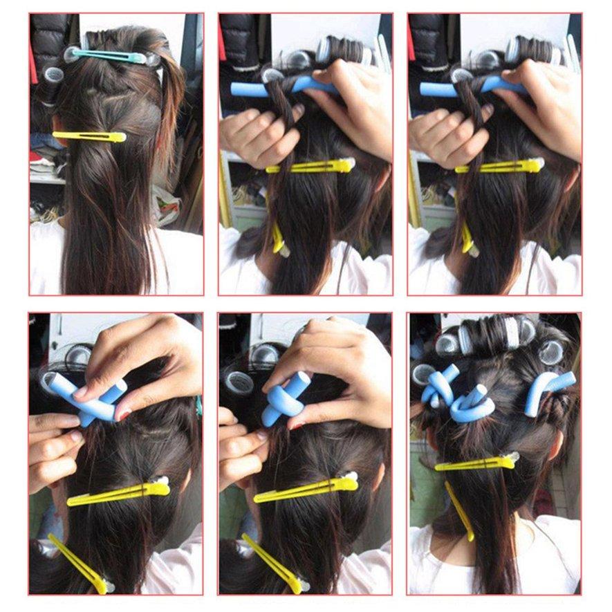 Diy Curlers Curler Pearl Cotton Hair Roll Curls Bagels Bendy Spiral Curl Perms