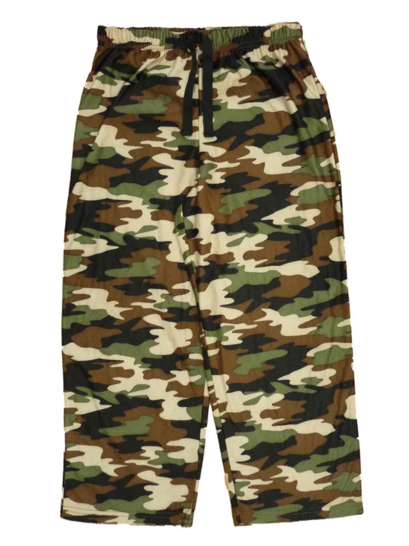 Jelli Fish Kids Boys Camouflage Flannel Sleep Pants Pajama Bottoms XS