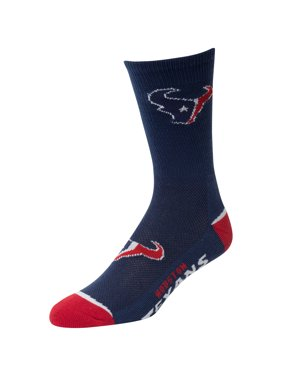 2d345df5247a Product Image Men s For Bare Feet Navy Houston Texans Crew Socks ...