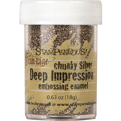 Stampendous Deep Impression Embossing Enamel, .63oz, Chunky Silver