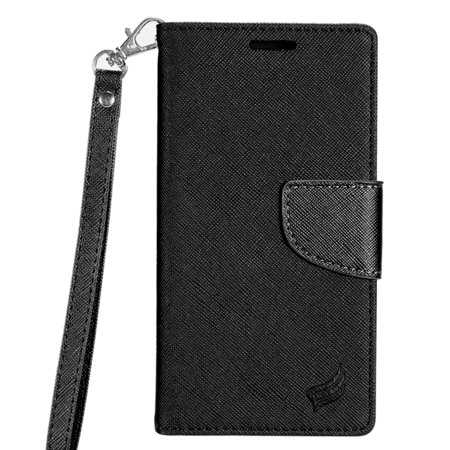 Htc Touch Diamond Leather (HTC 10 evo / Bolt Case, by Insten Stand Book-Style Leather [Card Slot] Wallet Flap Pouch Case Cover For HTC 10 evo / Bolt)