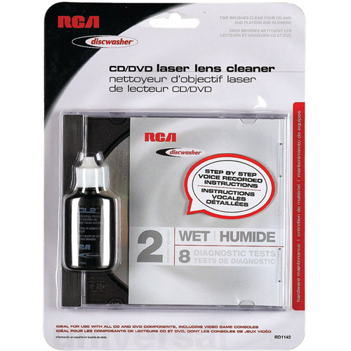 Discwasher Rd1142 CD/DVD Laser Lens Cleaners with 2 Brushes