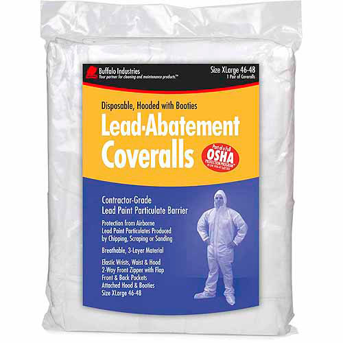 Buffalo Industries 68442 Extra Large Disposable Lead Abatement Coveralls