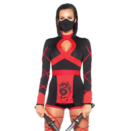 Dragon Ninja Halloween Costume (Leg Avenue Women's Black Dragon Ninja)
