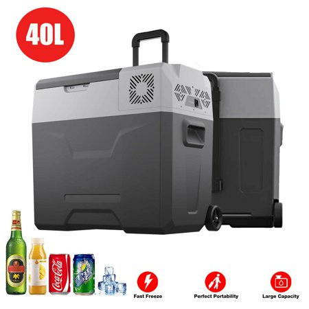 40L Portable Freezer Cooler Compressor Refrigerator Mini Fridge w/ Trolley Wheel (40l Fridge)