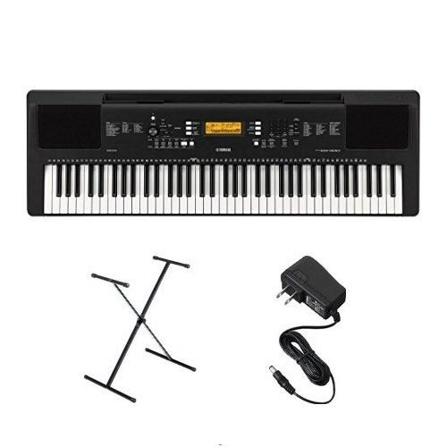 Yamaha PSREW300 Keyboard Bundle with Stand and Power Adapter (REFURBISHED)