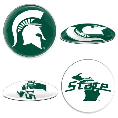 Michigan State Spartans Official NCAA  Sport Dotts Magnet 2 Pack by Wincraft