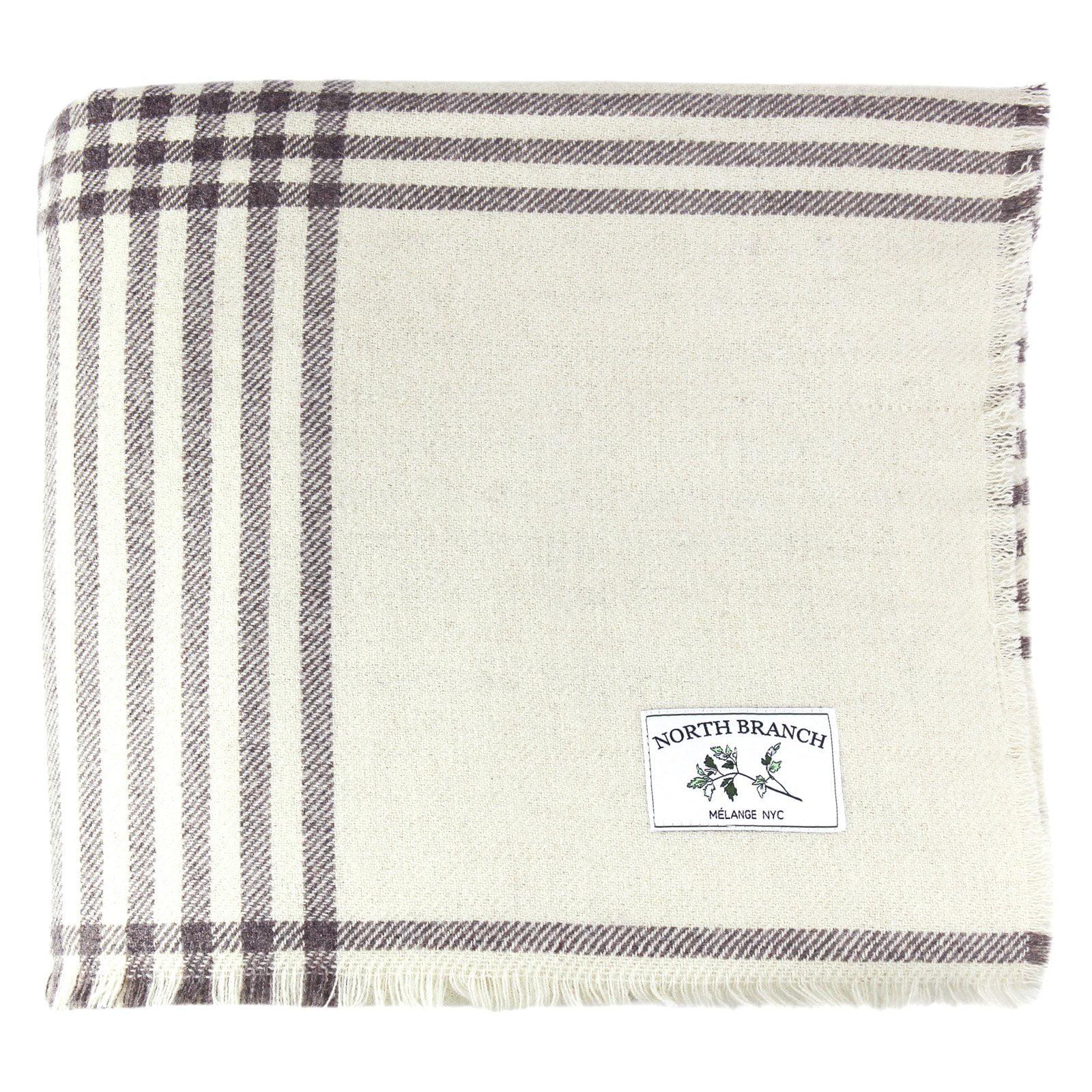 Melange Home Nine Bar Wool Blanket