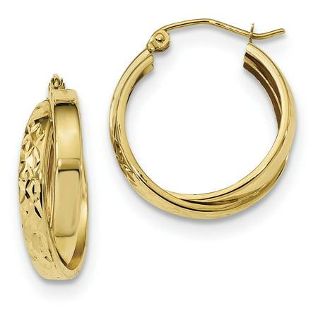 Yellow Twist (14k Yellow Gold Twist Hoop Earrings Ear Hoops Set Fine Jewelry For Women Gift)