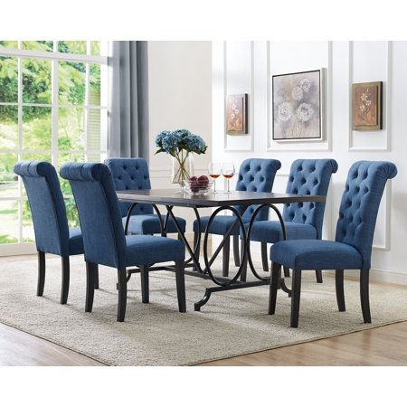Brassex Dining Table Chairs Blue