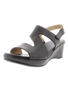 8fd3c27b6cfe Product Image Naturalizer Womens Valerie Leather Wedge Sandals Black 6.5  Narrow (AA
