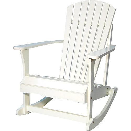 Adirondack Porch Rocking Chair in White