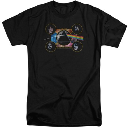 Pink Floyd Dark Side Heads Mens Adult Big And Tall Shirt