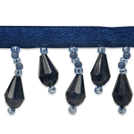 Expo Int'l 10 yards of Joanne Beaded Teardrop Fringe Trim by the yard (Silver Metallic Fringe)
