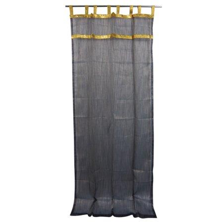 Mogul 2 Sheer Curtains Panels Drapes Golden Tabs Window Treatment 48  X84