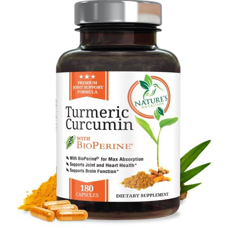 Turmeric Curcumin Max Potency 95% Curcuminoids 1950mg with Bioperine Black Pepper for Best Absorption, Anti-Inflammatory Joint Pain Relief, Turmeric Supplement Pills