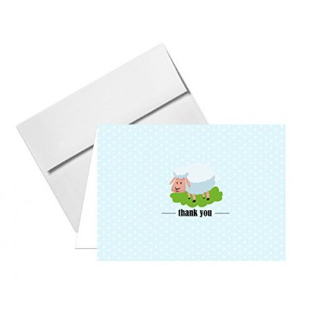 Turtle Baby Shower (Lovely Animal Thank You Note Greeting Cards - Size 4