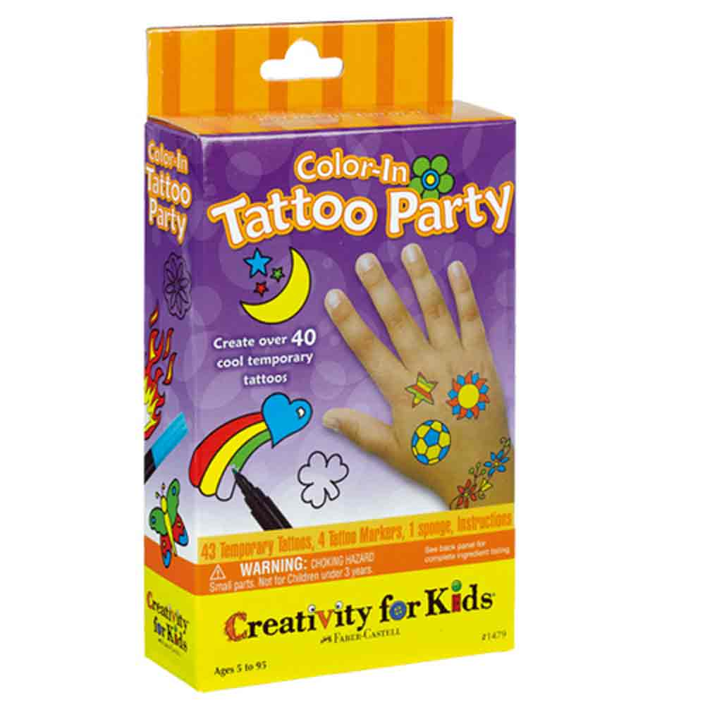 Color-In Tattoo Party Kit-
