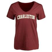 Charleston Cougars Women's Everyday T-Shirt - Maroon