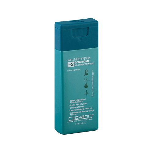 Giovanni Hair Care Products Conditioner Wellness System - Travel Size - 2 oz