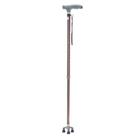 Adjustable Walking Stick Cane Folding + Light LED Strap Handle Metal Lightweight - image 3 of 3