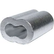 Campbell 7670724 Cable Ferrule, 1/8 in Dia Cable, Aluminum
