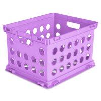 Sterilite, File Crate, Violet Bloom