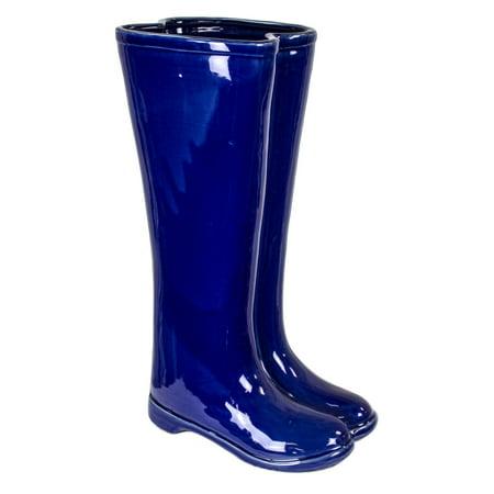Sagebrook Home Ceramic Boots Umbrella Stand