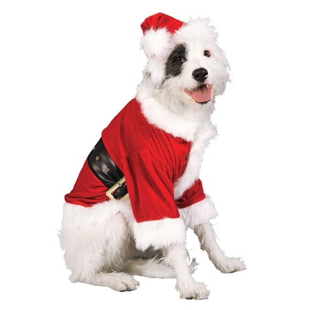 Homemade Pet Halloween Costumes (Santa Claus Dog Costume - XL)