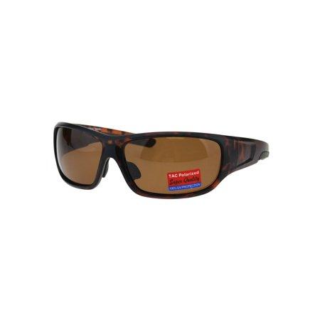 2775a82900 Polarized Anti-glare Warp Plastic Sport Biker Mens Sunglasses Tortoise Brown