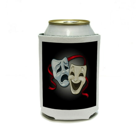 Drama Comedy Tragedy Masks - Acting Theatre Theater Can Cooler Drink Insulator Beverage Insulated Holder
