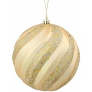 vickerman 6 glitter ball christmas ornament - Christmas Ball Ornaments Bulk