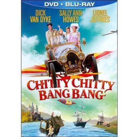 Chitty Chitty Bang Bang (Blu-ray + DVD) Ladies and gentlemen, boys and girls start your engines. You're about to take an incredible ride with one of the most wonderful family films of all time! Now celebrating its 30th anniversary,  Chitty Chitty Bang Bang  has never looked or sounded better. Dick Van Dyke stars as eccentric inventor Caractacus Potts, who creates an extraordinary car called Chitty Chitty Bang Bang. It not only drives but also flies and floats as it leads him, his two children and his beautiful lady friend, Truly Scrumptious (Sally Ann Howes), into a magical world of pirates, castles and endless adventure. Languages and Subtitles: English, French and Spanish, Featurettes, Photo Gallery; Disc 1: Standard DVD Version of Feature Film; Sing-A-Long Version of the Film; Disc 2: Remastered Blu-ray Feature with Newly Upgraded 7.1 Audio; Sing-A-Long Version of the Film. All-New  'Toot Sweet Symphony' Melody Maker: The 'Toot Sweet Toots' Musical Maestro ; All-New  Chitty Chitty's, Bang Bang, Driving Game ;  Remembering 'Chitty Chitty Bang Bang' with Dick Van Dyke ;  A Fantasmagorical Motorcar ;  Sherman Brothers' Rare Demos of the Film's Most Popular Songs ; Vintage Featurettes including:  The Ditchling Tinkerer ,  Dick Van Dyke Press Interview  and  The Potts Children's Featurette ; Vintage Advertising Gallery including English and French Versions of the Theatrical Trailer and Several Television Spots; Music Machine.