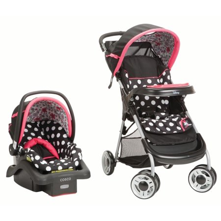 Disney Yard Art - Disney Baby Minnie Mouse Lift & Stroll™ Plus Travel System, Minnie Coral Flowers