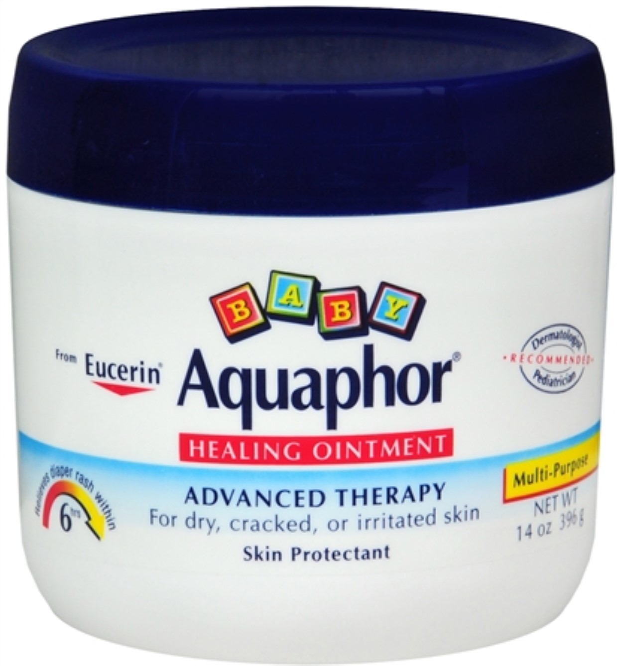 Aquaphor Baby Healing Ointment, Advanced Therapy 14 oz (Pack of 6)