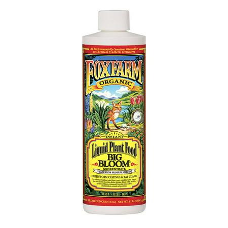 FoxFarm Big Bloom Liquid Concentrate Organic Plant Food, 1 Pint Bottle | (Liquid Bloom Quart)