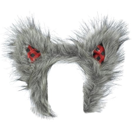 Little Red Riding Hood Wolf Ears Headband for Adults, One Size, 8 1/2 Inches