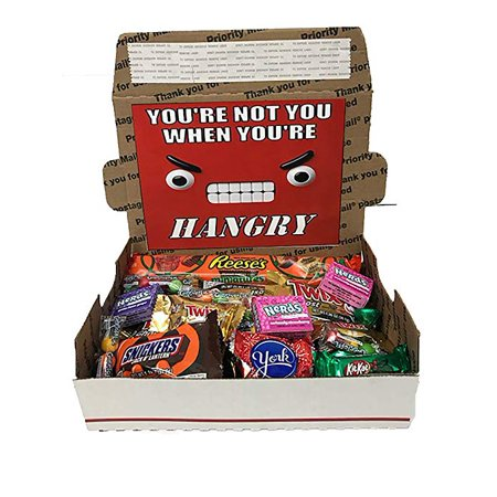 Assorted Candy And Chocolate Hangry Kit Care Package With Over 70 Pieces Popular Name Brands