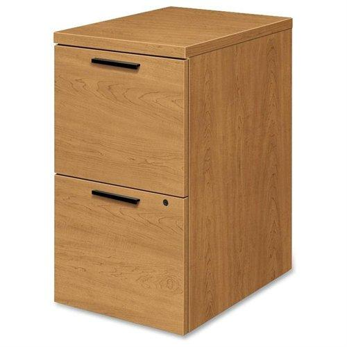 "Hon 105102 Box/box/file Mobile Pedestal - 15.8"" Width X 22.8"" Depth X 28"" Height - 3 X Box, File Drawer[s] - Wood Grain - Harvest, Laminate (105102CC)"