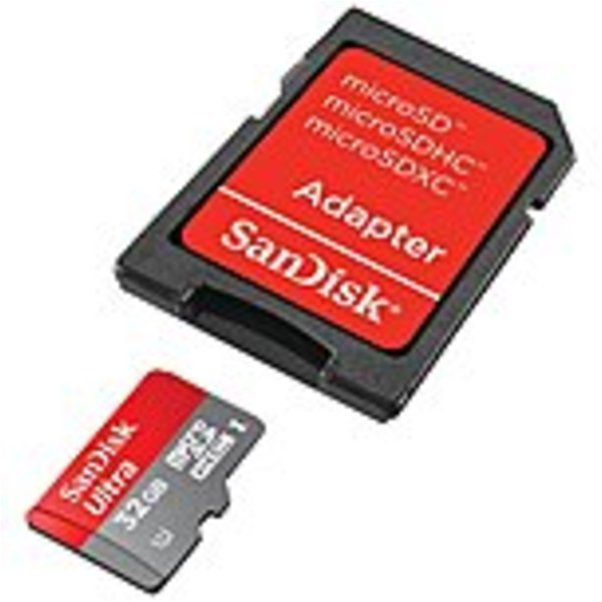 SanDisk Ultra 32GB UHS-I/Class 10 Micro SDHC Memory Card With Adapter- SDSDQUAN-032G-G4A