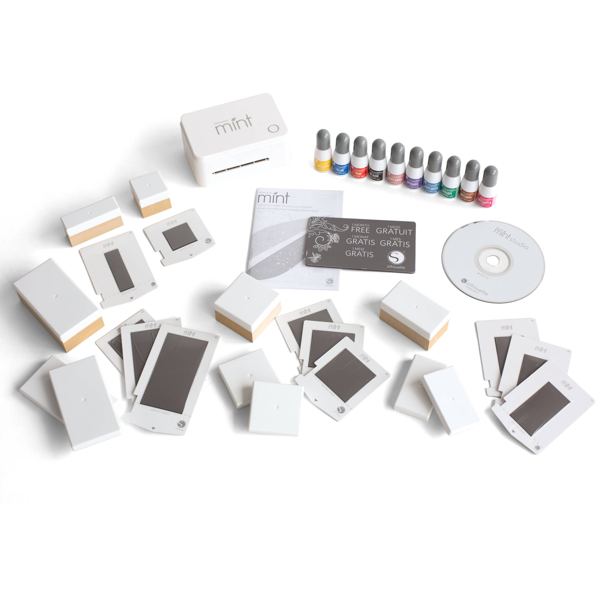 Silhouette Mint Custom Stamp Making Machine and Accessories Value Bundle