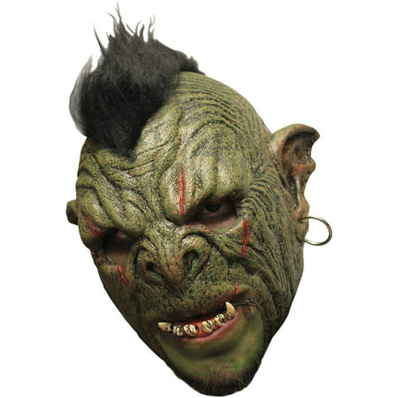 Orc Mok Deluxe Chinless Latex Mask Adult Halloween Accessory (Non Latex Halloween Masks)