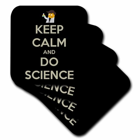 3dRose Keep calm and do science, Soft Coasters, set of (Science Coasters)
