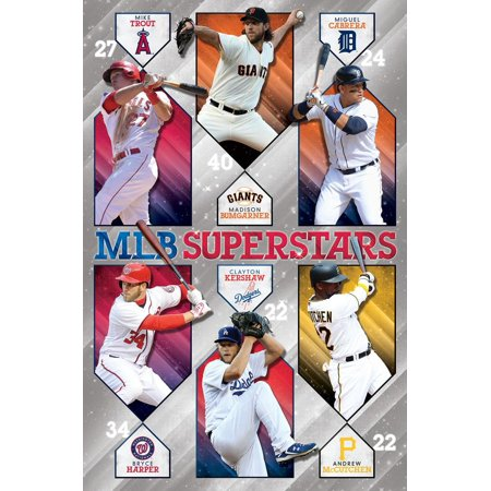 MLB Superstars Players Baseball Sports Poster