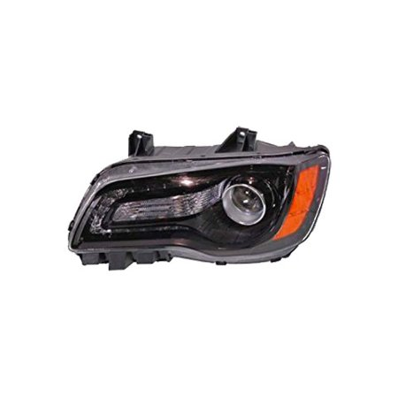 New Left Headlight Assembly Black Bezel FIts 2012-2014 Chrysler 300 68085417AE