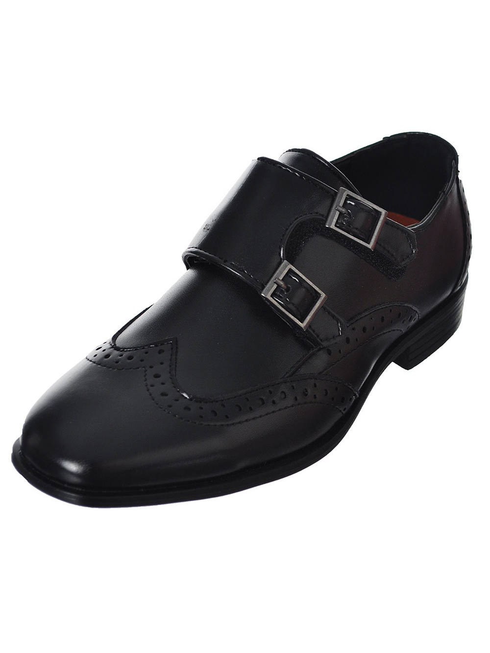 Jodano Collection Boys' Double-Buckle Wingtip Dress Shoes (Sizes 5 - 8)