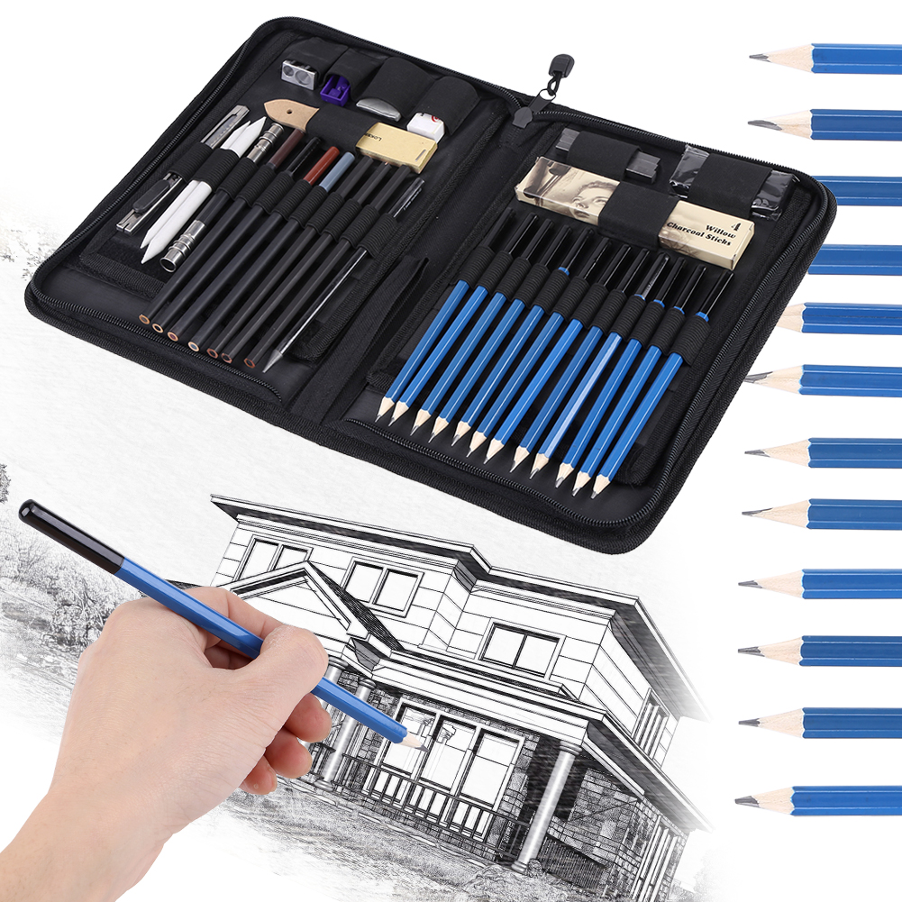 Sketching pencils set drawing suppliesymiko 40pcs professional sketching drawing pencils kit set art supplies students painting tool